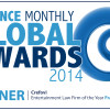 "2014 Finance Monthly Global Awards ""Entertainment law firm of the year in the UK and Northern Ireland, - 2014 Finance Monthly Global Awards ""Entertainment law firm of the year in France"""